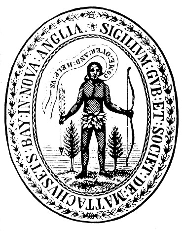 Message on Massachusetts Bay Colony's original great seal