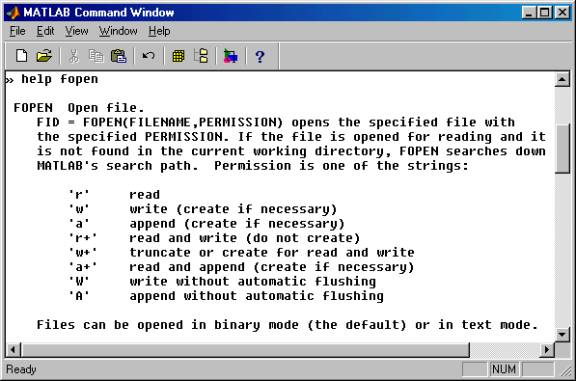 write help file matlab Fprintf write formatted data to file syntax [count, errmsg] = fprintf(fid, format, a,  if you use fprintf to convert a matlab double into an integer,.