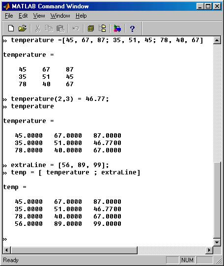 how to delete an element from an array in matlab