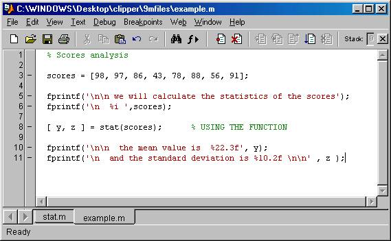 writing functions in matlab External functions matlab allows you to write your own functions you can execute these just like any other function in matlab these functions exist in files whose name ends in a m, and.