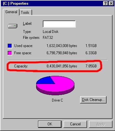 RAM vs Disk Space